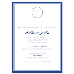 Blue Cross Invitation