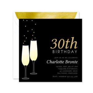 Black Flutes Invitation