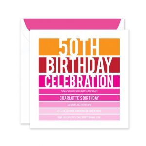 Birthday Stripes Invitation