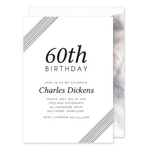 Diagonal Stripe Invitation