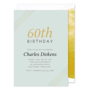 Golden 60th Invitation