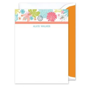 Floral Frenzy Flat Card
