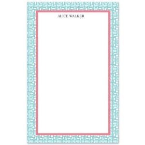 Blue Lattice Note Pad