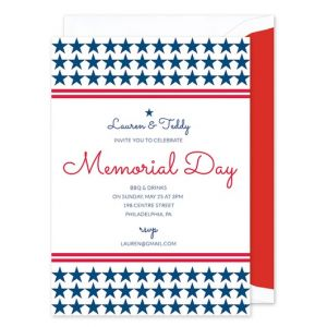 Star Stripes Invitation