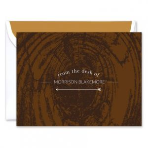 Faux Wood Note Card