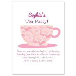 Rose Tea Party Invitation