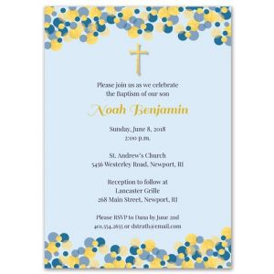 Blue Confetti Invitation