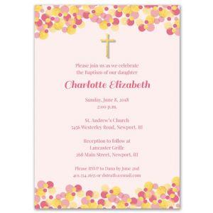 Pink Confetti Invitation