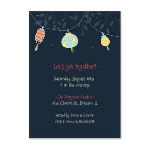 Chinese Lantern Invitation