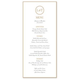 Fortune Menu Card