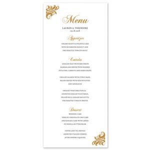 Botanical Menu Card