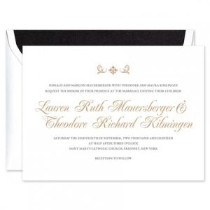 Formal White Invitation