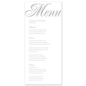 Formal Menu Card