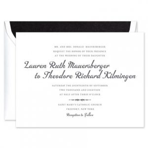 Traditional Flair Invitation