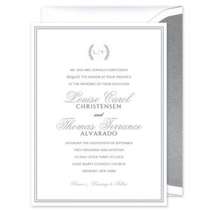 Double Border Invitation