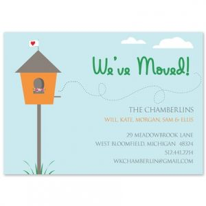 moving announcement cards new address fine stationery