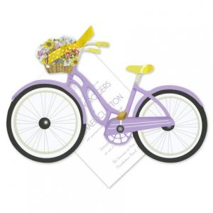 Purple Bike Invitation