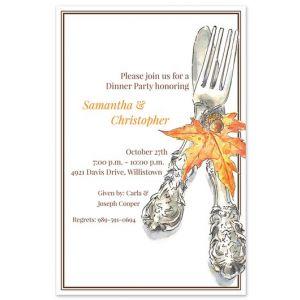 Autumn Cutlery Invitation