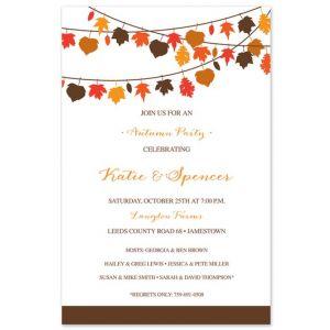 Leaf Lines Invitation