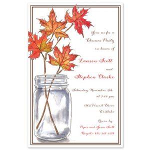 Leaf Branches Invitation