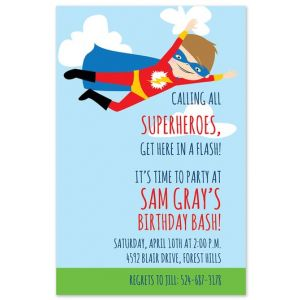 Caped Hero Invitation