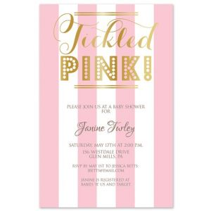 Tickled Pink! Invitation