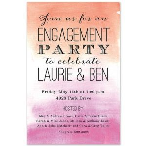 Bright Ombre Invitation