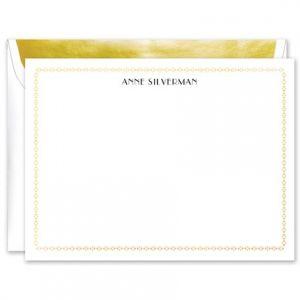 Interlocked Foil Flat Card