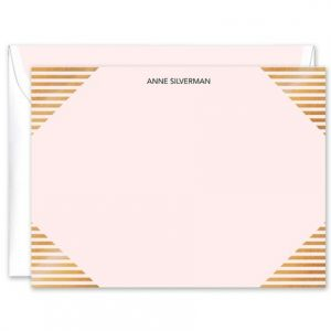 Linear Gold Foil Flat Card