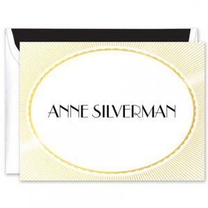 Radiant Gold Foil Note Card