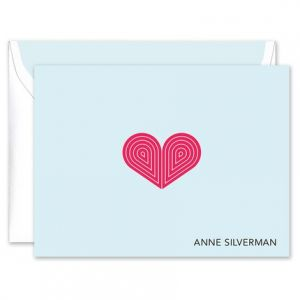 Red Deco Heart Note Card