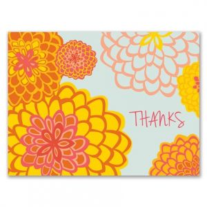 Zinnia Patch Note Card