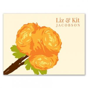 Ranunculus Note Card