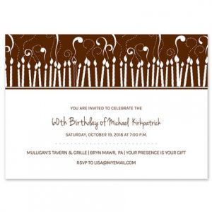 Burning Candles Invitation