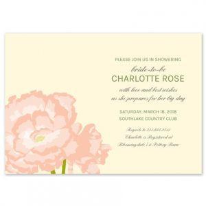 Pink Carnation Invitation