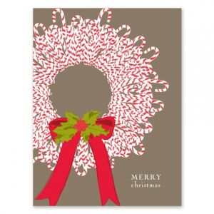 Cane Wreath Greeting Card