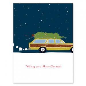 Tree Wagon Greeting Card