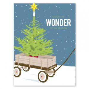 Wagon Tree Greeting Card