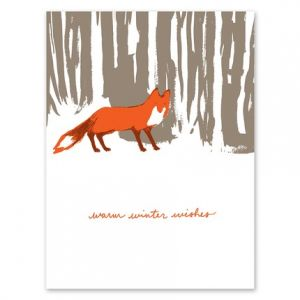 Snowy Fox Greeting Card