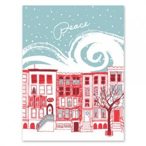Peaceful City Greeting Card