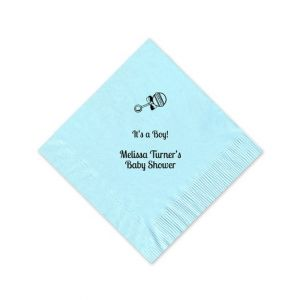 Sky Blue Beverage Napkin