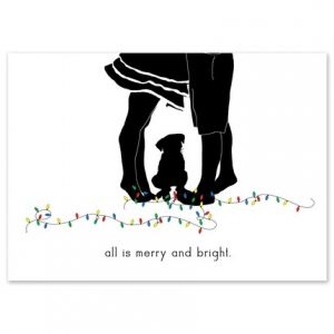 Couple & Dog Greeting Card