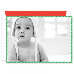 Green Stripe Photo Card