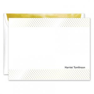 Gold Foil Dot Flat Card