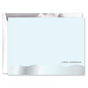 Silver Foil Wave Flat Card