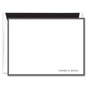 White & Black Flat Card