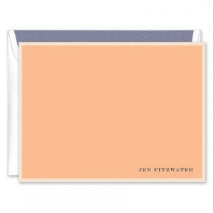 Peach & White Flat Card