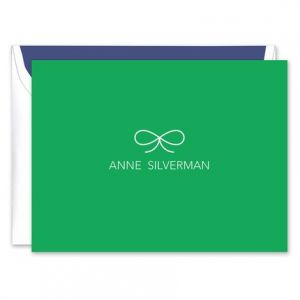 Green Bow Note Card