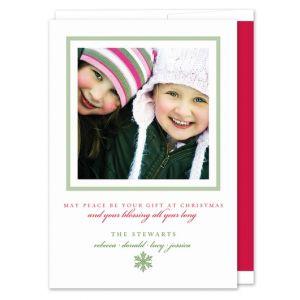Green Square Photo Card