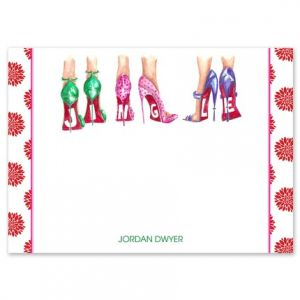 Jingle Heels Flat Card